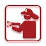 Feuerwehr Schild neon 3D