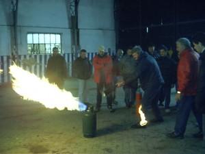 Prova di spegnimento fuochi di classe C (GAS in Bombola)